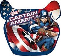 """Детско столче за кола - Капитан Америка - За деца от 15 до 36 kg от серията """"Отмъстителите"""" - раница"""