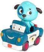 Кученце на полицейска кола -