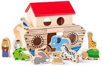 Сортер - Ноев ковчег - Детска дървена образователна играчка -