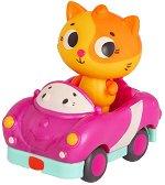 """Коте на кола - Комплект играчки със светлинни и звукови ефекти : От серията """"Land of B"""" -"""
