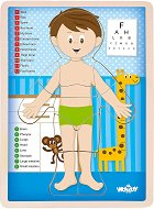 Човешко тяло - Момче - Дървен образователен пъзел -