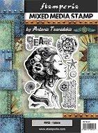 Гумени печати - Жена с компас