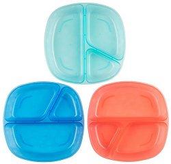 Детски чинии за хранене с три отделения -