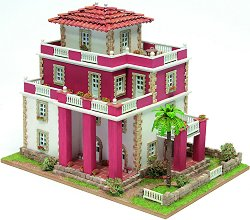 Къща - Sitges - Детски сглобяем модел от истински тухлички -