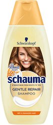 Schauma Gentle Repair Shampoo - Възстановяващ шампоан за суха и увредена коса - балсам