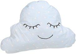 Бебешка ръчно изработена декоративна възглавница - Облаче -