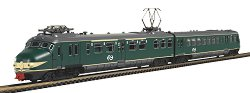 Пътнически влак с електрически локомотив - NS Hondekop MAT54 - Аналогов стартов комплект с релси - макет