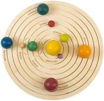 Слънчевата система - Дървена образователна играчка -