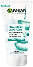 Garnier Hyaluronic Aloe Foam - Почистваща пяна с хиалурон и алое вера - тоалетно мляко