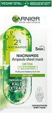 Garnier Detox Niacinamide Ampoule Sheet Mask - серум