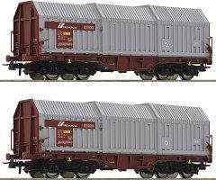Tоварни вагони с телескопични покриви - FS - ЖП модели - комплект от 2 броя -