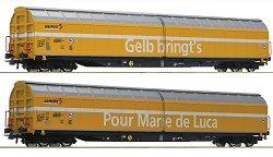 Tоварни вагони с плъзгащи се стени - Post SBB - ЖП модели - комплект от 2 броя -