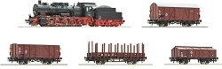 Товарен влак с парен локомотив клас BR 57 - Дигитален стартов комплект - макет