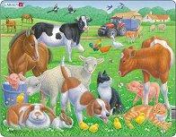 Животни от фермата - пъзел