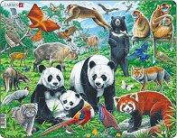 Животни в джунглата - Пъзел в картонена подложка - пъзел