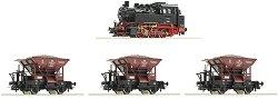 Товарен влак с парен локомотив клас BR 80 - Дигитален стартов комплект -