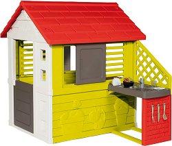 Сглобяема къща с кухня за игра - Nature House - В комплект с аксесоари -