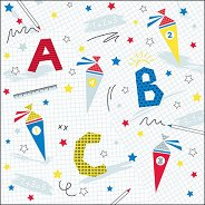 Салфетки за декупаж - ABC - Пакет от 20 броя