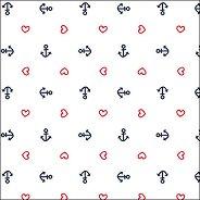 Салфетки за декупаж - Котви на бял фон - Пакет от 20 броя