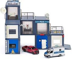 Полицейска станция - Със светлинни и звукови ефекти и 2 колички -