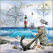 Салфетки за декупаж - Морски пейзаж - Пакет от 20 броя