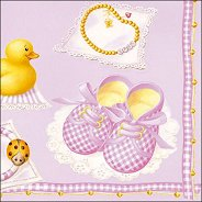 Салфетки за декупаж - Baby Girl - Пакет от 20 броя