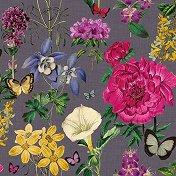 Салфетки за декупаж - Ботанически цветя - Пакет от 20 броя