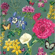 Салфетки за декупаж - Градински цветя - Пакет от 20 броя