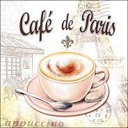 Салфетки за декупаж - Кафе в Париж - Пакет от 20 броя