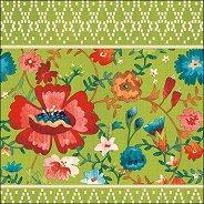 Салфетки за декупаж - Флорални орнаменти - Пакет от 20 броя