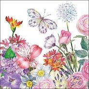 Салфетки за декупаж - Цветна градина