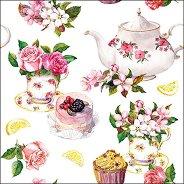 Салфетки за декупаж - Следобеден чай - Пакет от 20 броя