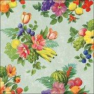 Салфетки за декупаж - Цветя и плодове - Пакет от 20 броя