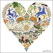 Салфетки за декупаж - Сърцето на Елзас - Пакет от 20 броя