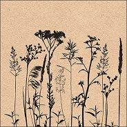 Салфетки за декупаж - Билки и цветя - Пакет от 20 броя