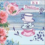 Салфетки за декупаж - Време за чай - Пакет от 20 броя