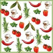Салфетки за декупаж - Градински зеленчуци - Пакет от 20 броя