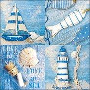 Салфетки за декупаж - Любов в морето