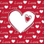 Салфетки за декупаж - Любов