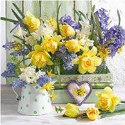 Салфетки за декупаж - Пролетни цветя