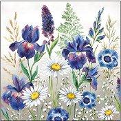 Салфетки за декупаж - Поляна от цветя - Пакет от 20 броя