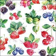 Салфетки за декупаж - Горски плодове - Пакет от 20 броя
