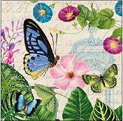 Салфетки за декупаж - Царството на пеперудите - Пакет от 20 броя