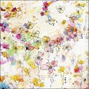 Салфетки за декупаж - Акварелни цветя