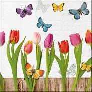 Салфетки за декупаж - Пролетен колаж - Пакет от 20 броя