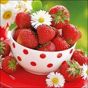 Салфетки за декупаж - Купа с ягоди - Пакет от 20 броя
