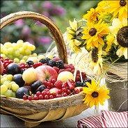 Салфетки за декупаж - Слънчеви плодове - Пакет от 20 броя