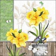 Салфетки за декупаж - Слънчева пролет - Пакет от 20 броя