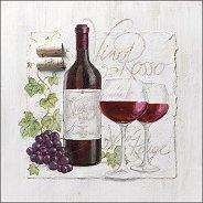 Салфетки за декупаж - Червено вино
