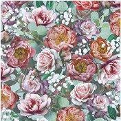 Салфетки за декупаж - Винтидж цветя - Пакет от 20 броя